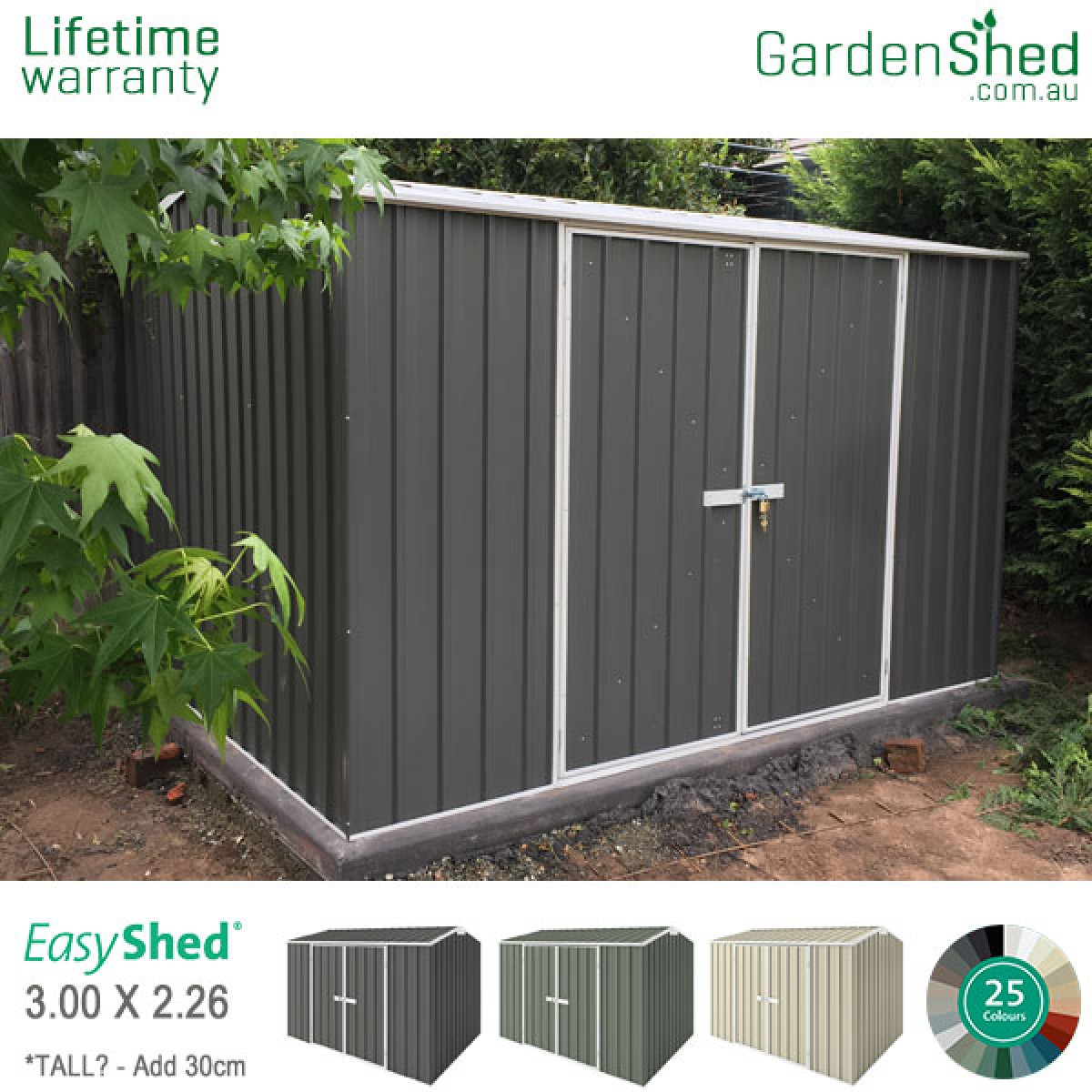 EasyShed Garden Shed 3m X 2.26m
